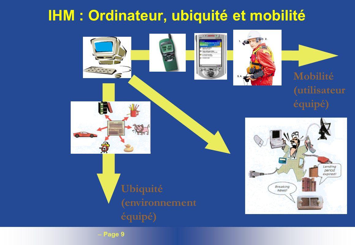 IHM : Ordinateur, ubiquité et mobilité