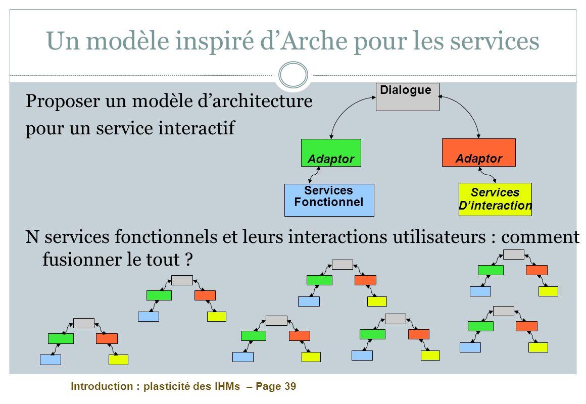 Un modèle inspiré d'Arche pour les services