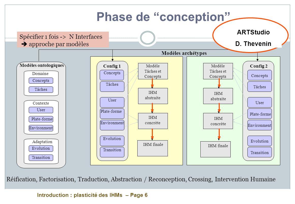Phase de conception ARTStudio D. Thevenin