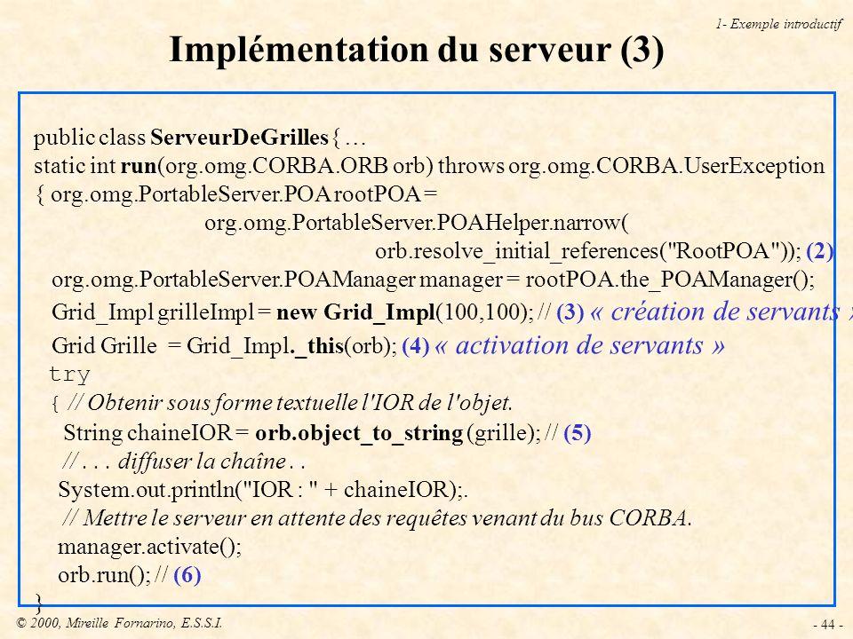 Implémentation du serveur (3)