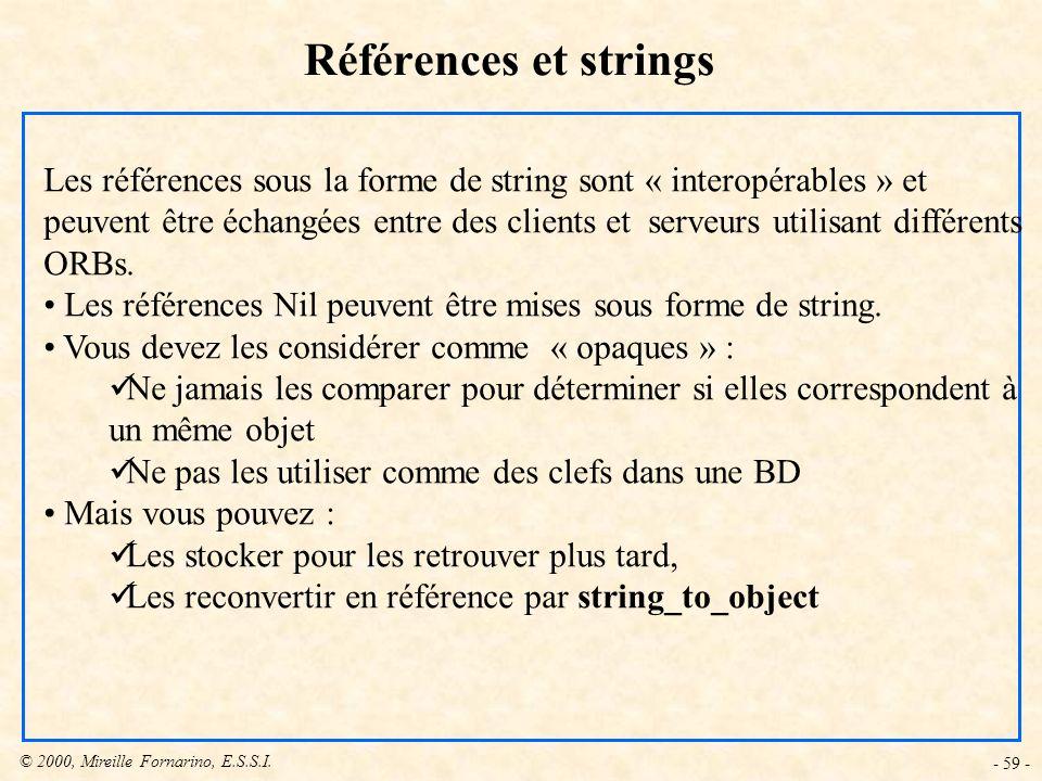 Références et strings