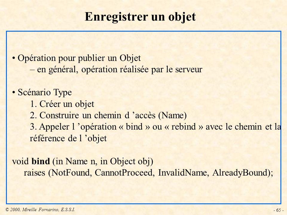 Enregistrer un objet Opération pour publier un Objet
