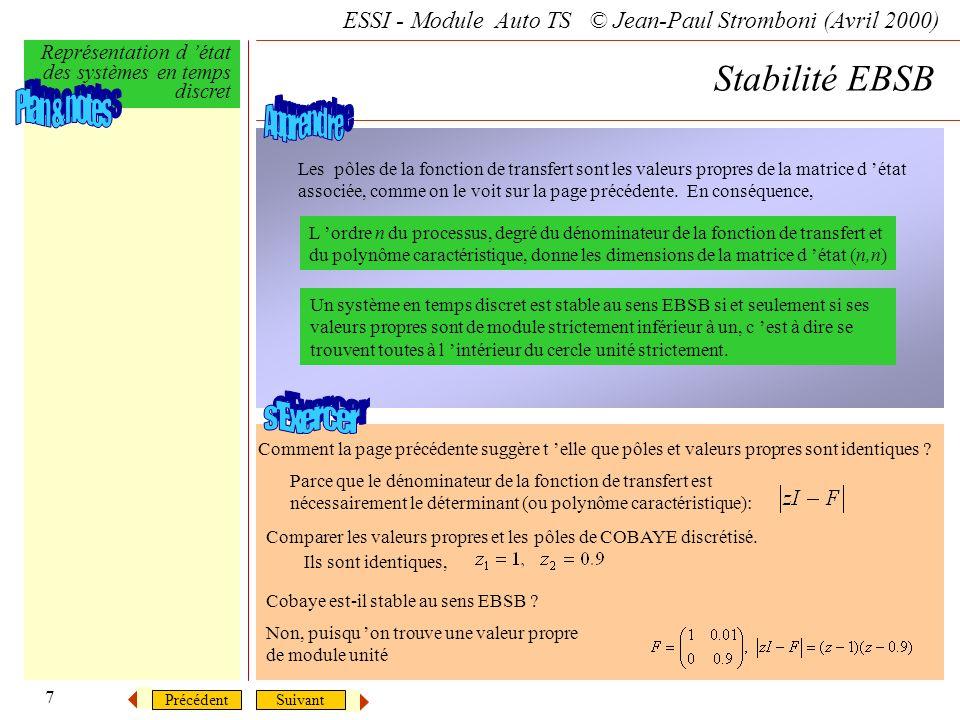 Stabilité EBSB