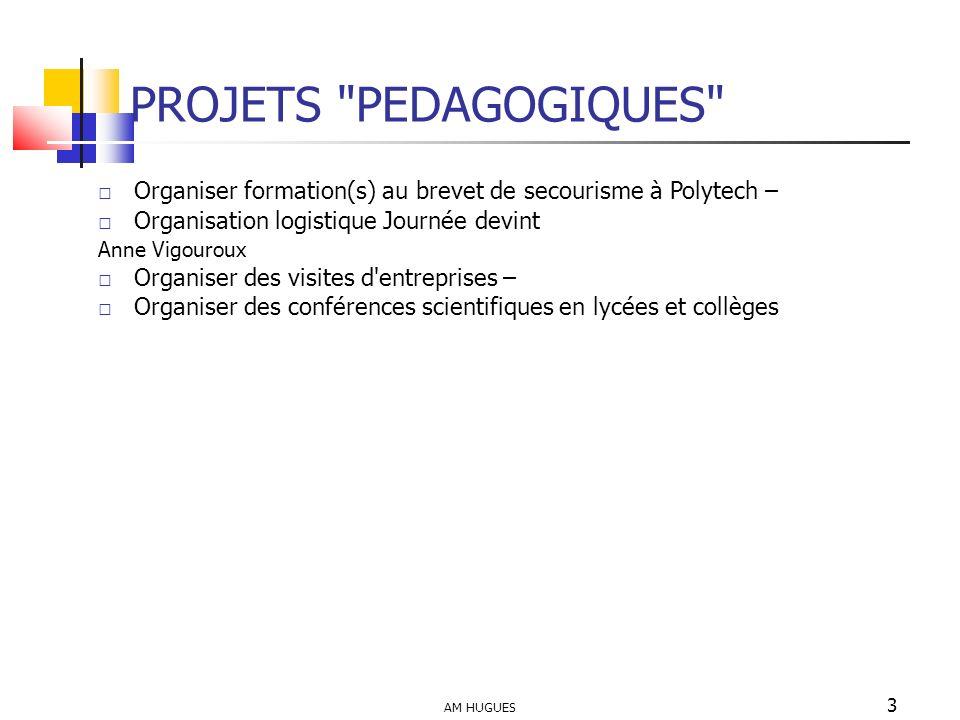 PROJETS PEDAGOGIQUES Organiser formation(s) au brevet de secourisme à Polytech – Organisation logistique Journée devint.