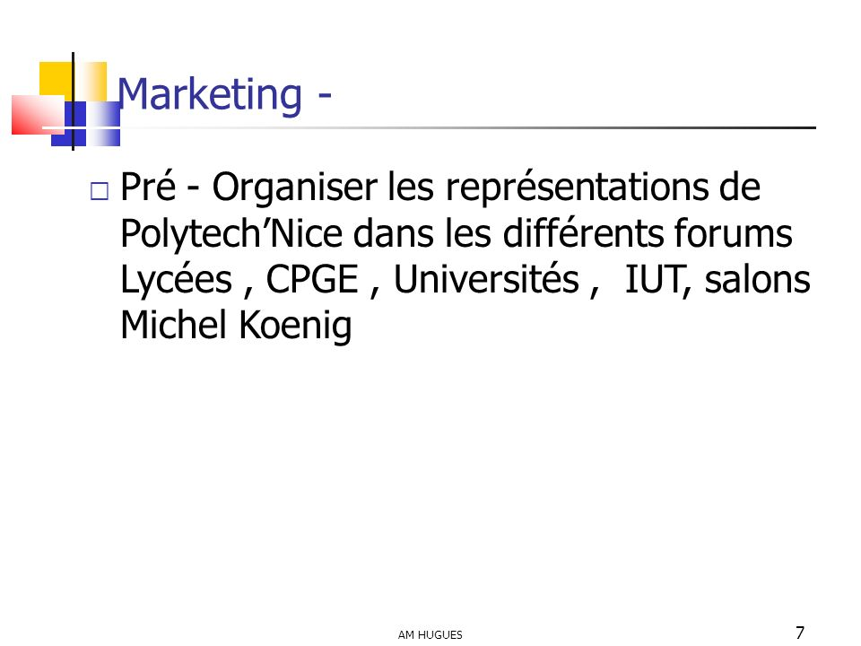 Marketing -