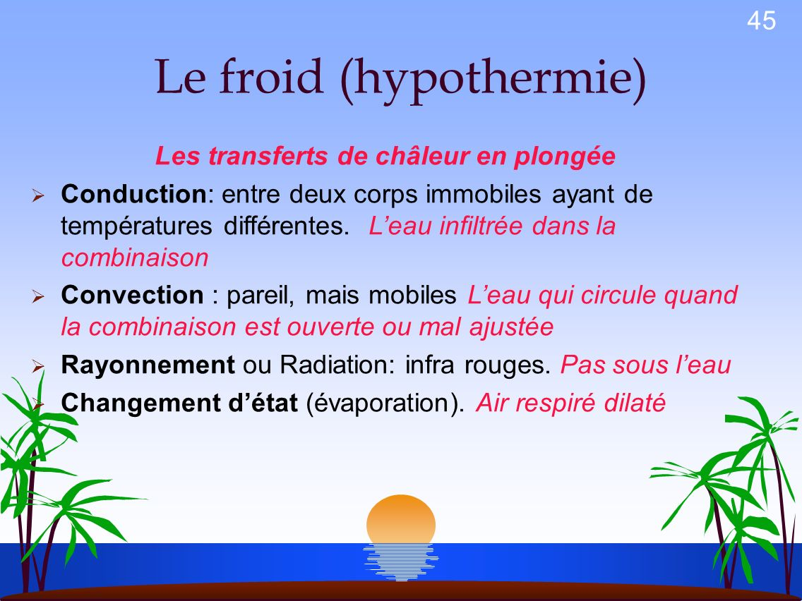 Le froid (hypothermie)