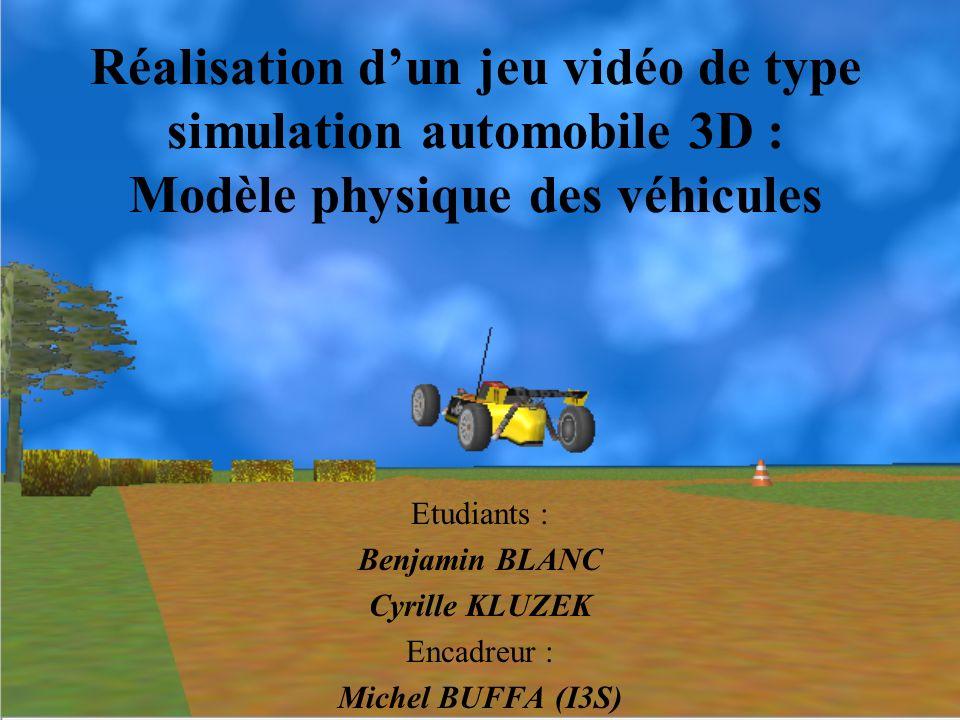Réalisation d'un jeu vidéo de type simulation automobile 3D : Modèle physique des véhicules