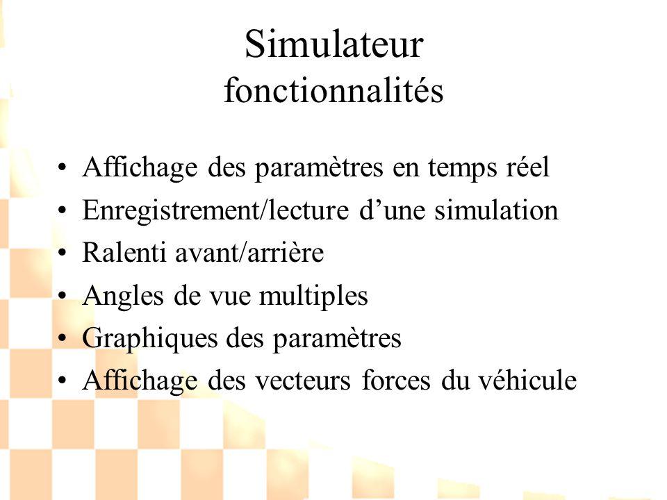 Simulateur fonctionnalités