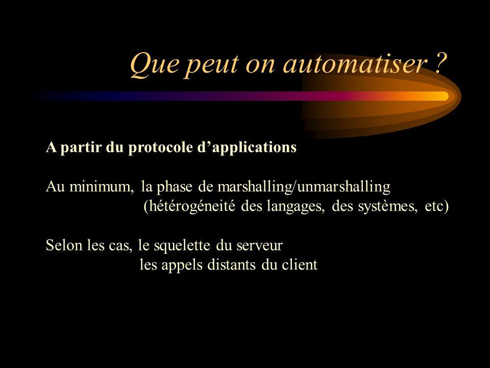 Que peut on automatiser