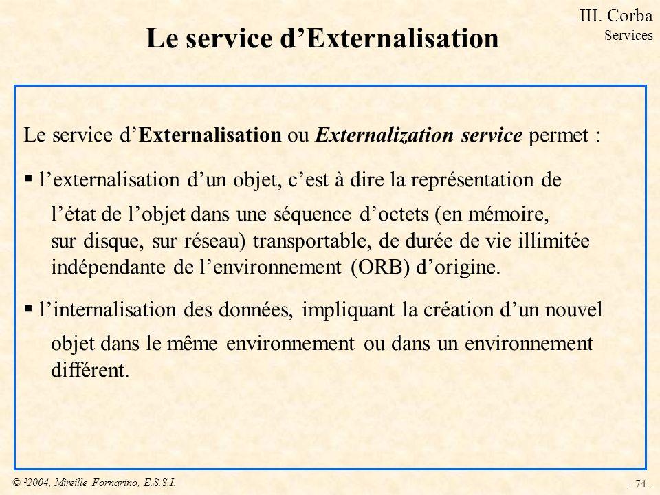 Le service d'Externalisation