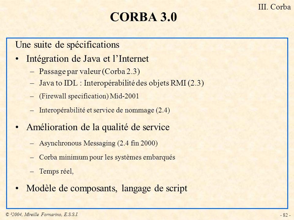 CORBA 3.0 Une suite de spécifications