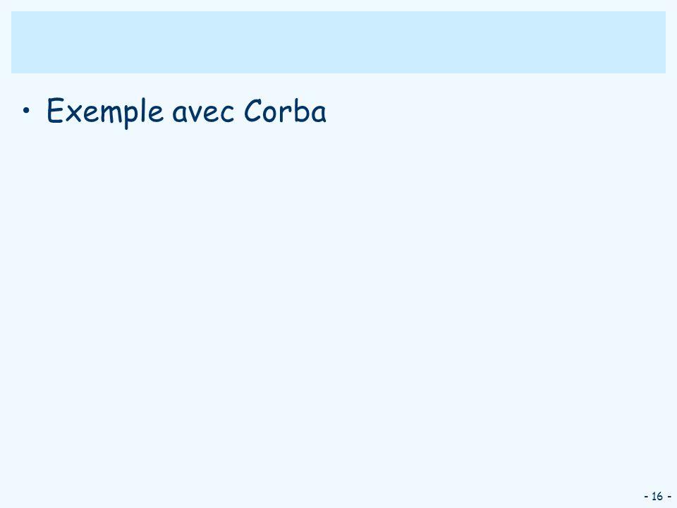 Exemple avec Corba - 16 -