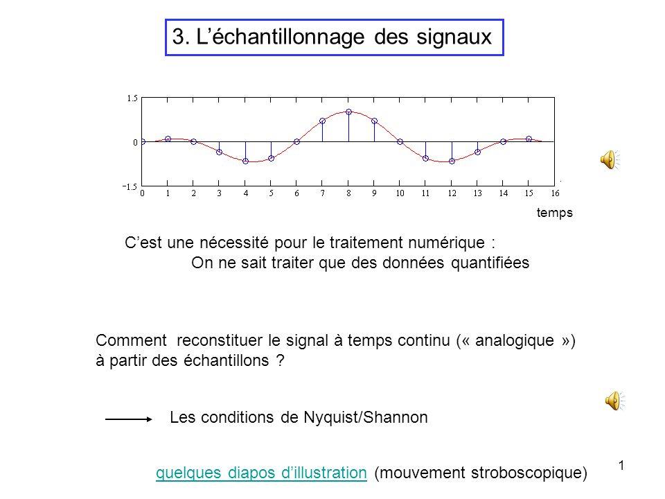 3. L'échantillonnage des signaux