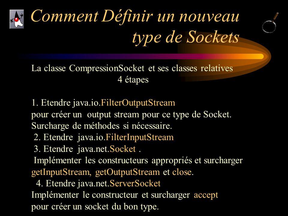 Comment Définir un nouveau type de Sockets