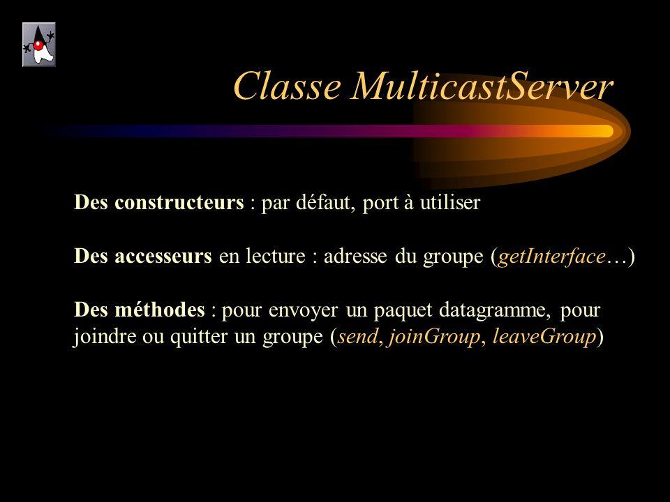 Classe MulticastServer