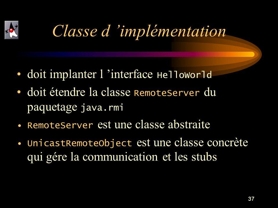 Classe d 'implémentation