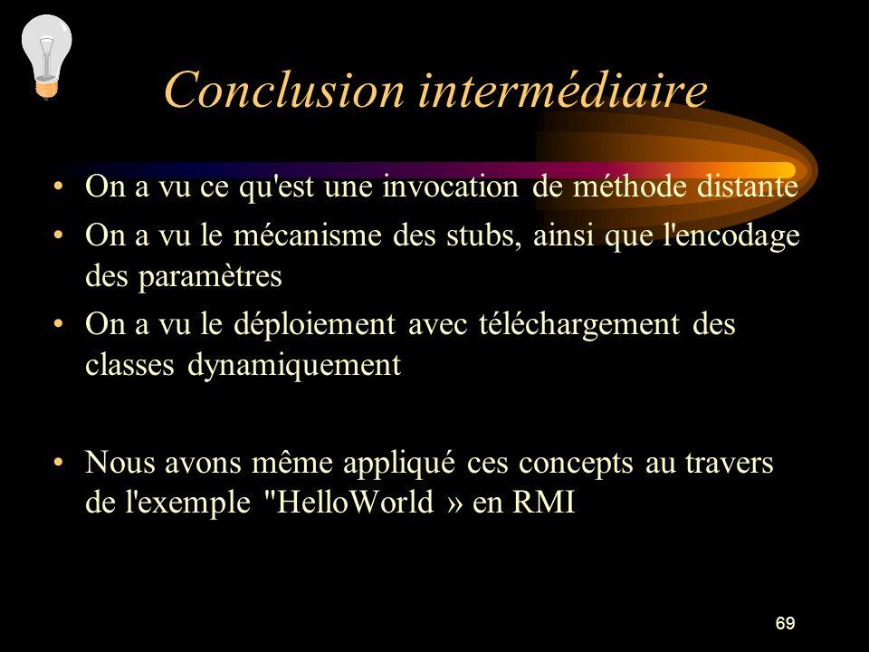 Conclusion intermédiaire