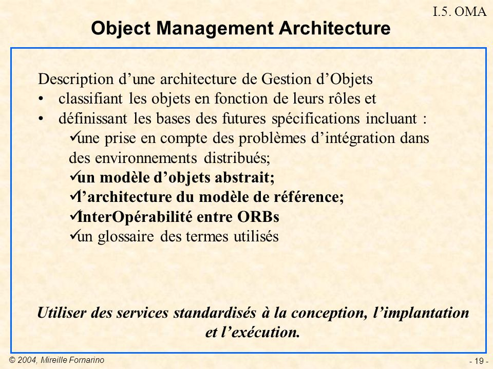Object Management Architecture