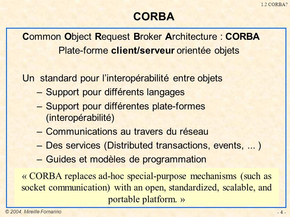 Plate-forme client/serveur orientée objets