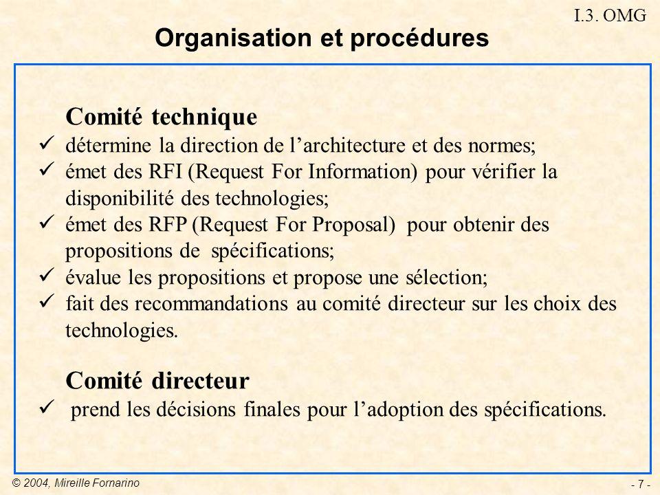 Organisation et procédures