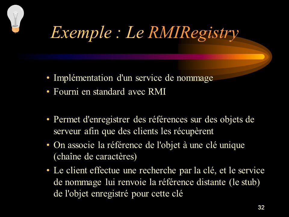 Exemple : Le RMIRegistry