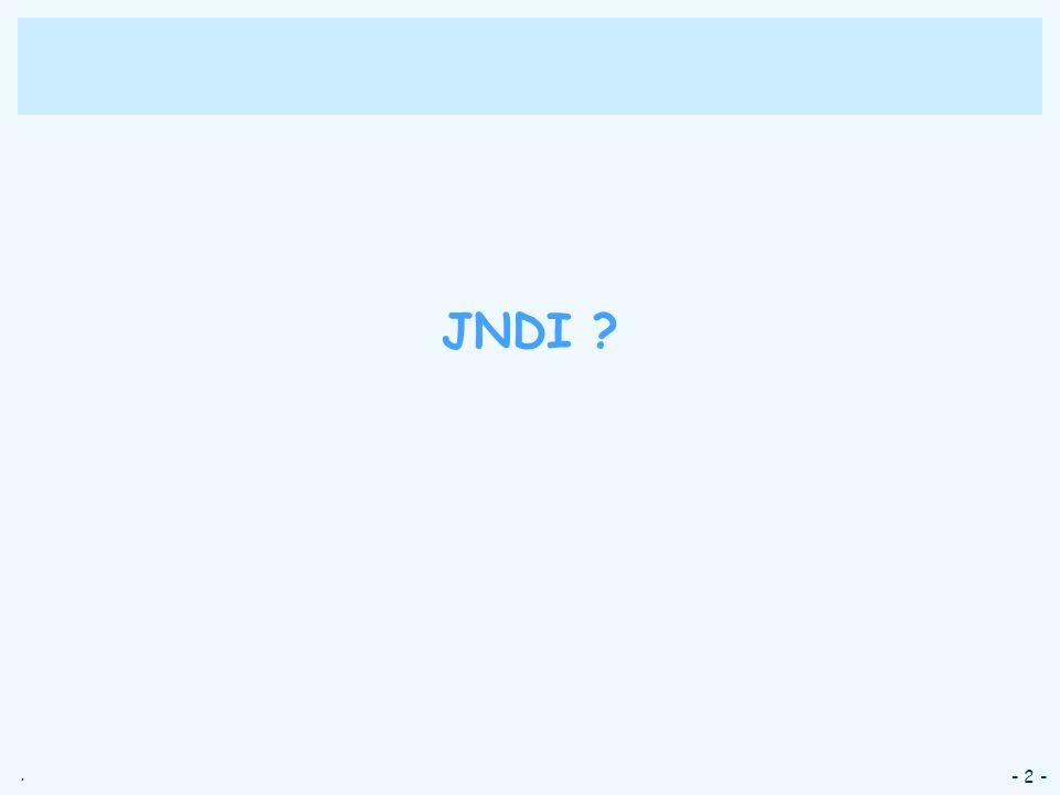 JNDI - 2 -