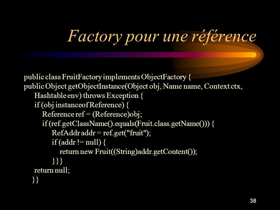 Factory pour une référence