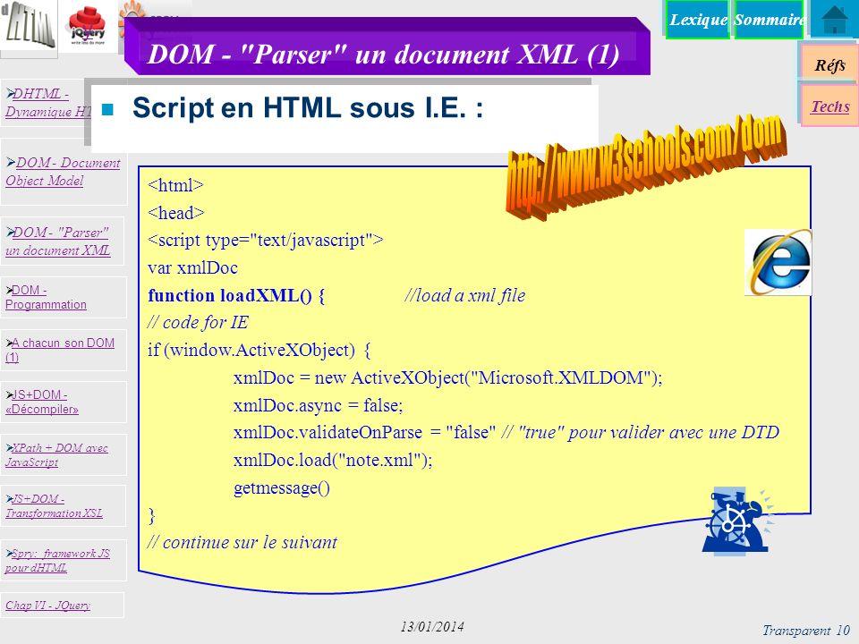 DOM - Parser un document XML (1)