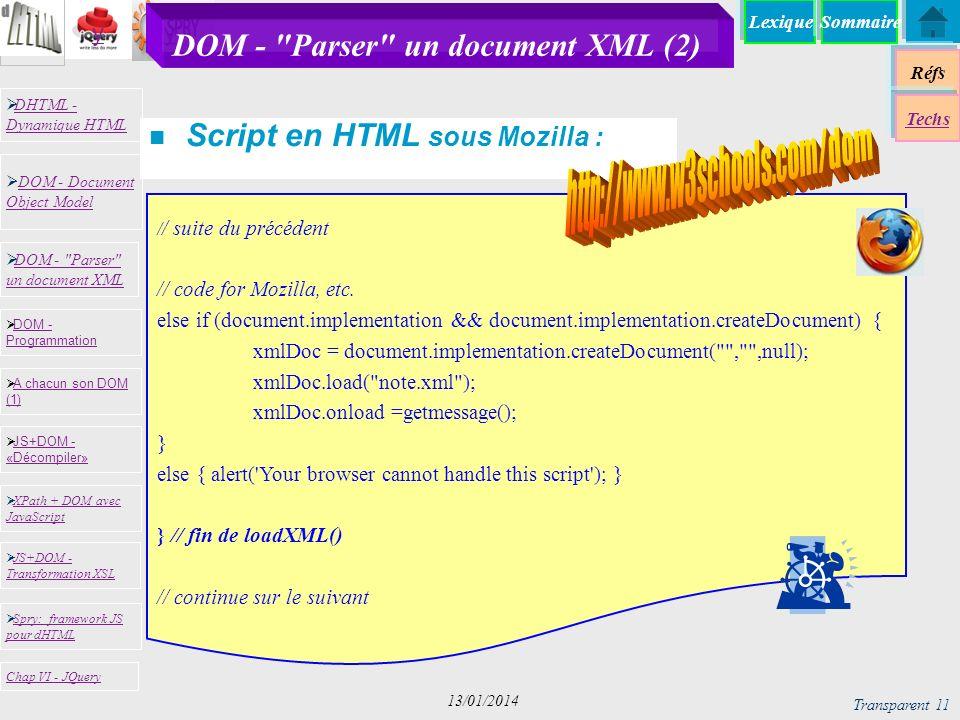 DOM - Parser un document XML (2)
