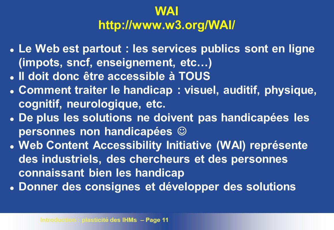 WAI http://www.w3.org/WAI/