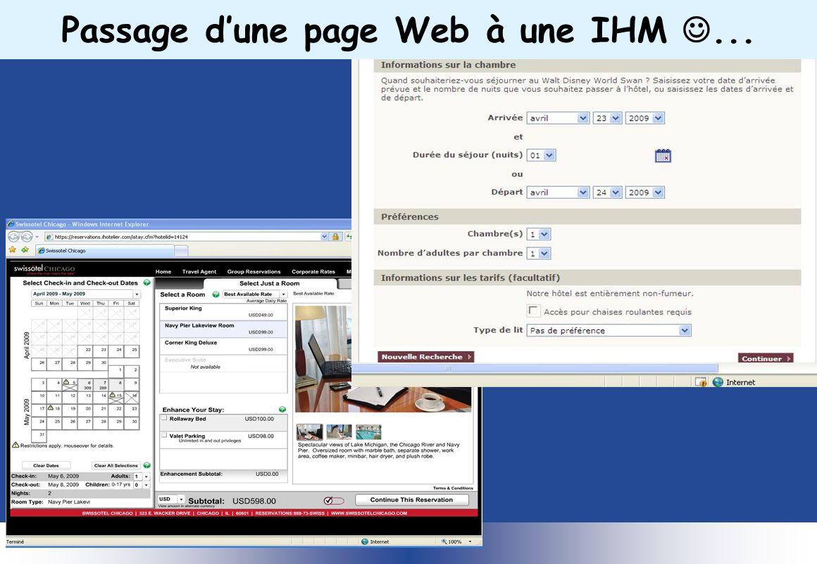 Passage d'une page Web à une IHM ...