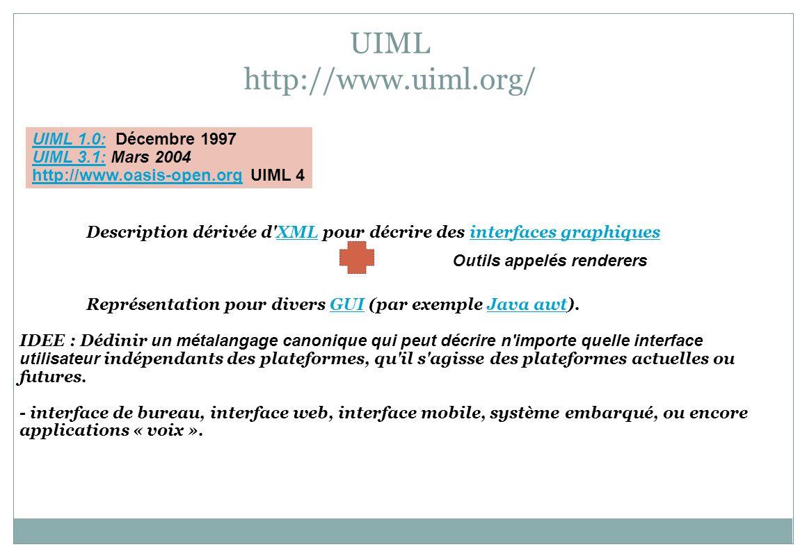 UIML http://www.uiml.org/