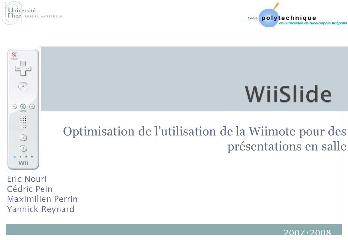 Optimisation de l'utilisation de la Wiimote pour des présentations en salle
