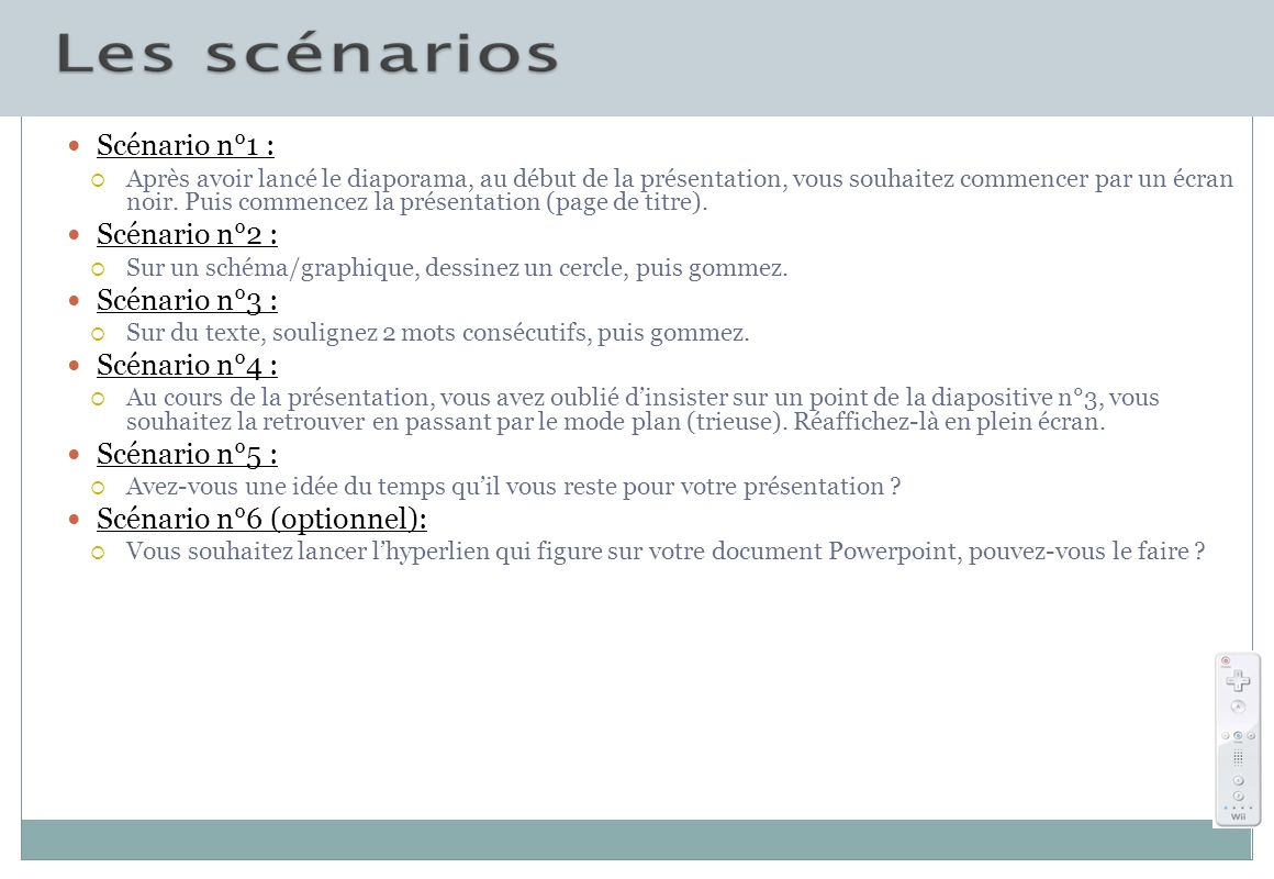 Scénario n°6 (optionnel):