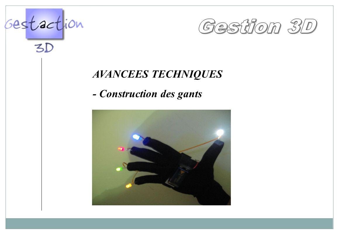 Gestion 3D AVANCEES TECHNIQUES - Construction des gants