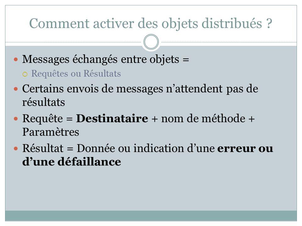Comment activer des objets distribués