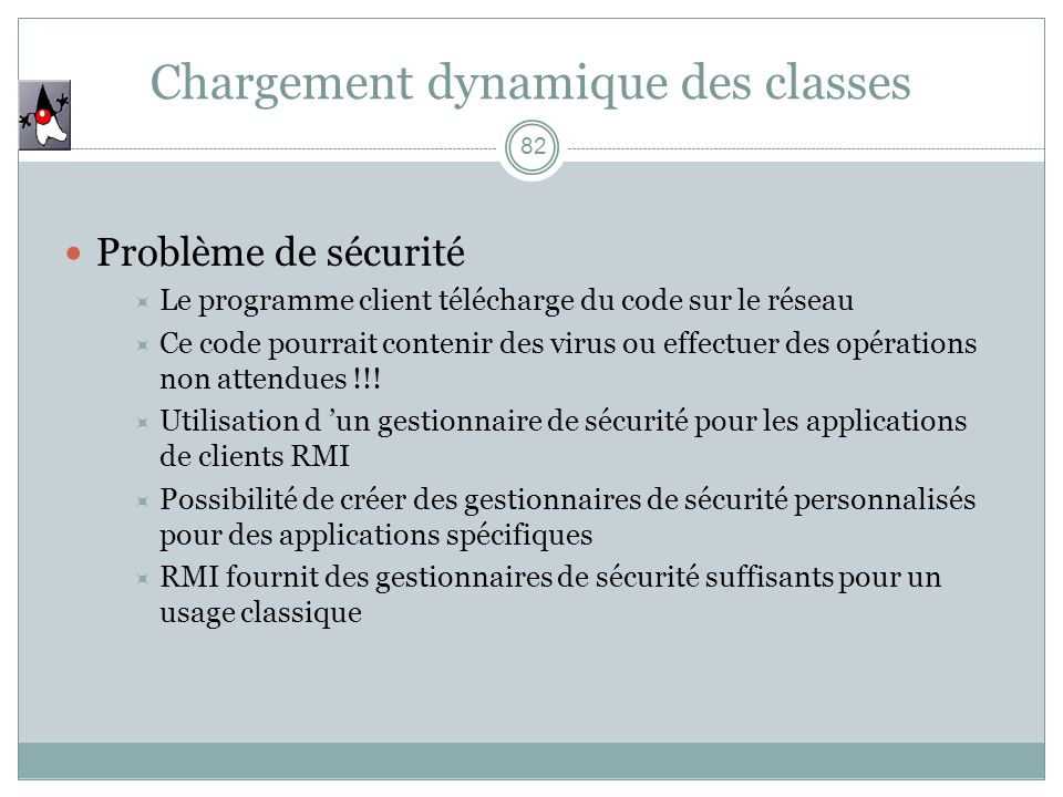 Chargement dynamique des classes