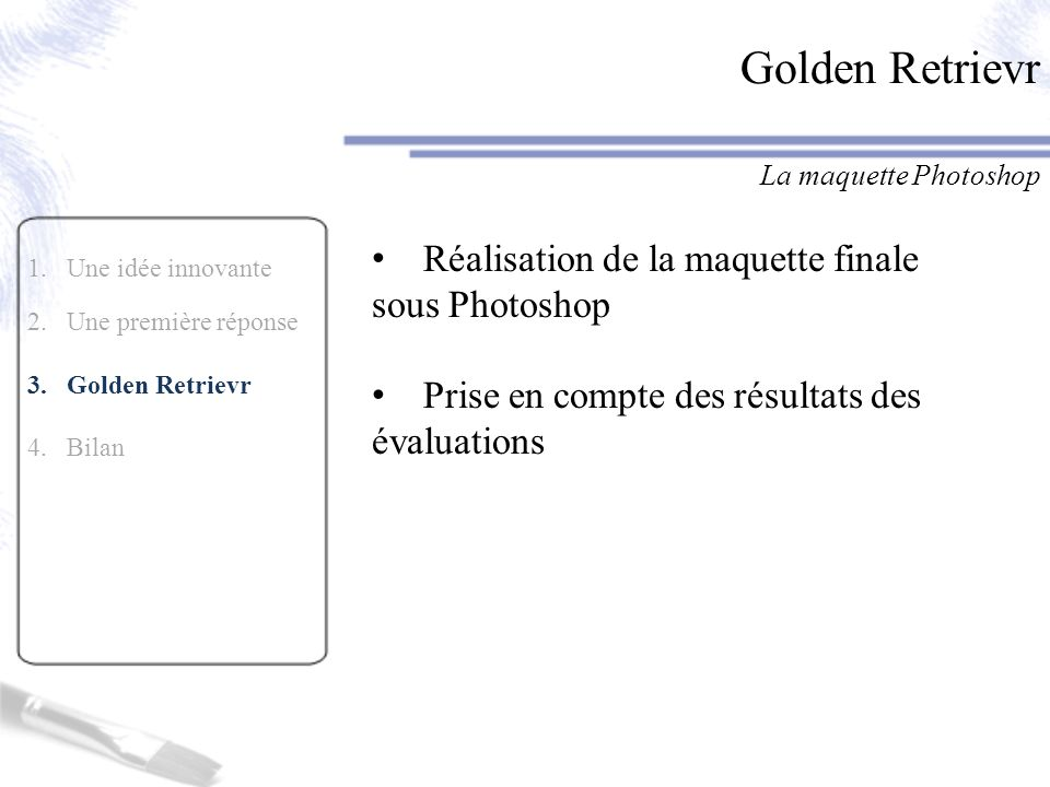 Golden Retrievr Réalisation de la maquette finale sous Photoshop