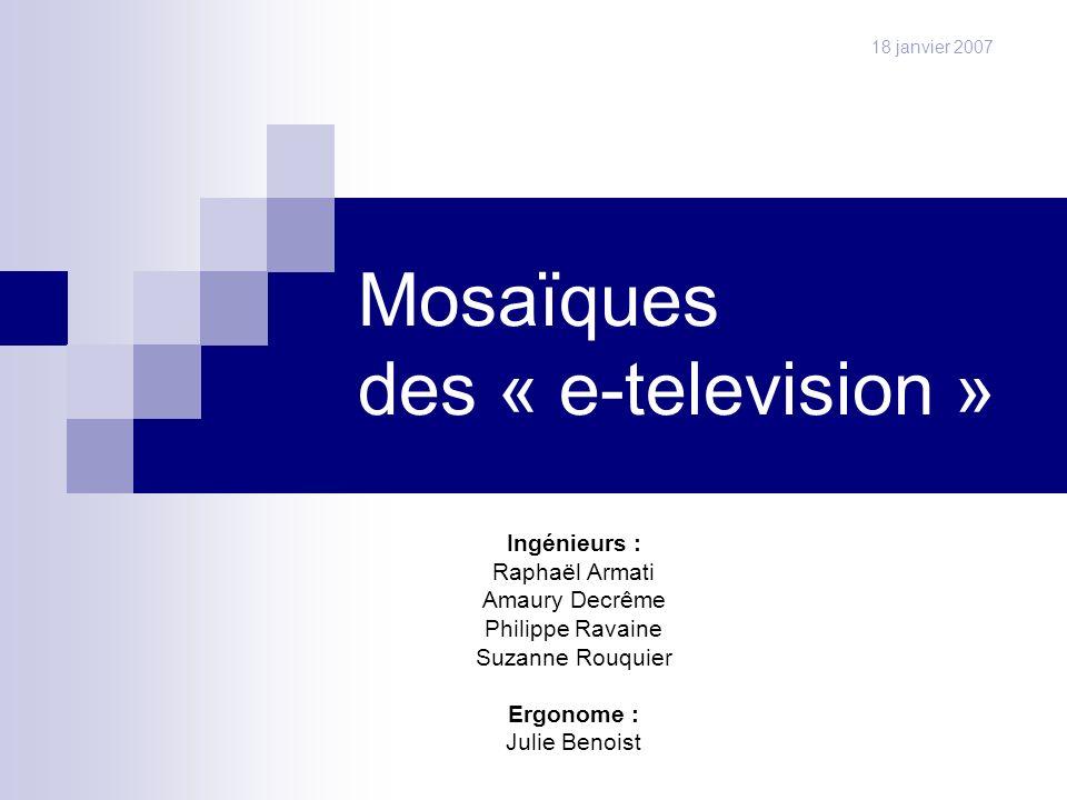 Mosaïques des « e-television »
