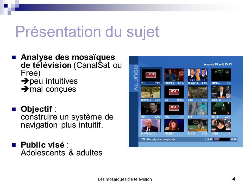 Les mosaïques d e-télévision