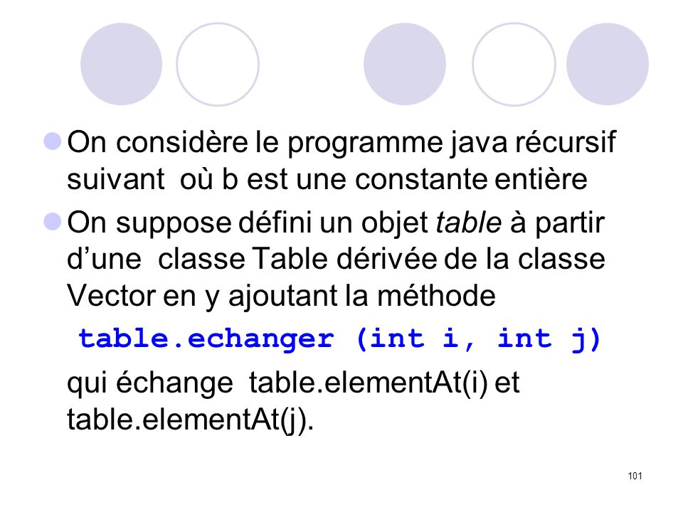 table.echanger (int i, int j)