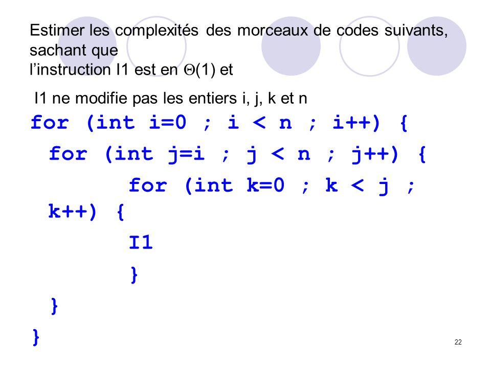 for (int i=0 ; i < n ; i++) { for (int j=i ; j < n ; j++) {