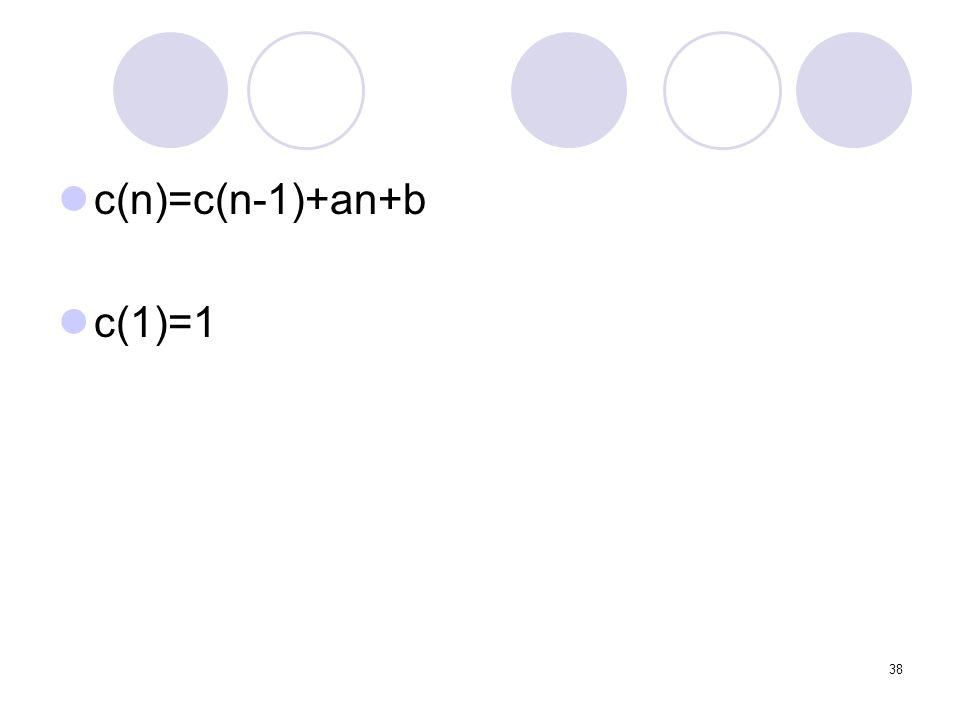 c(n)=c(n-1)+an+b c(1)=1