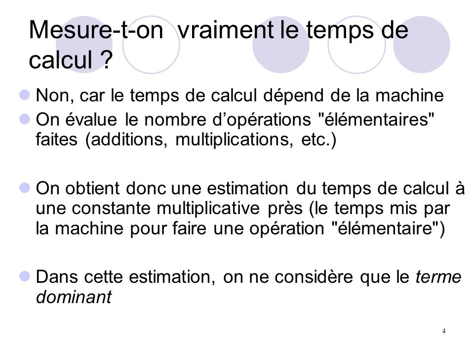 Mesure-t-on vraiment le temps de calcul