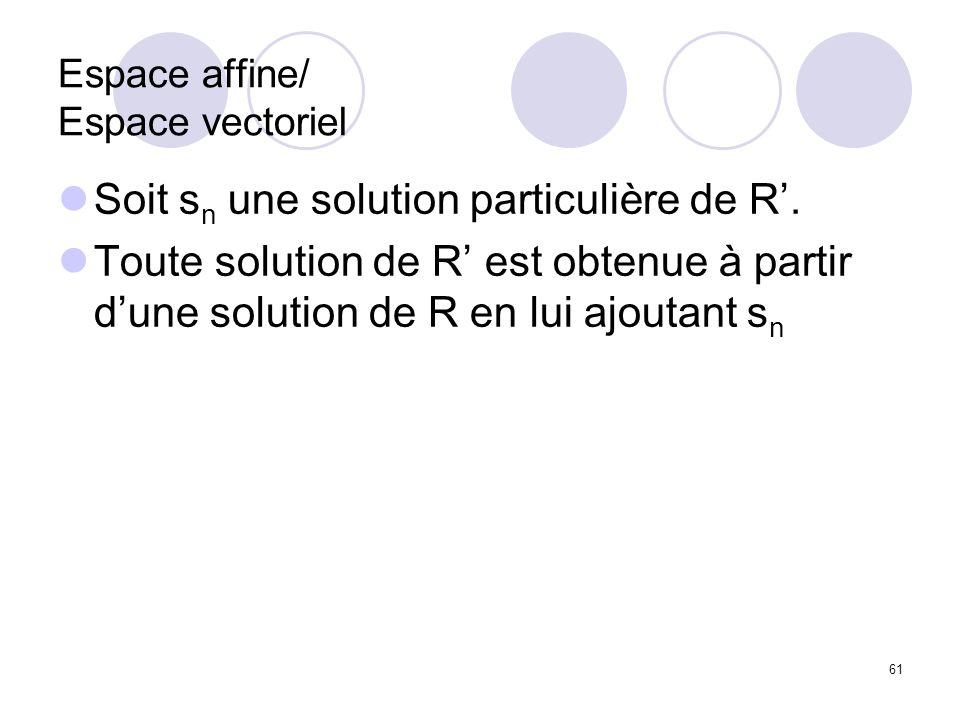 Espace affine/ Espace vectoriel