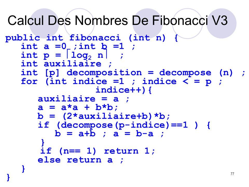 Calcul Des Nombres De Fibonacci V3