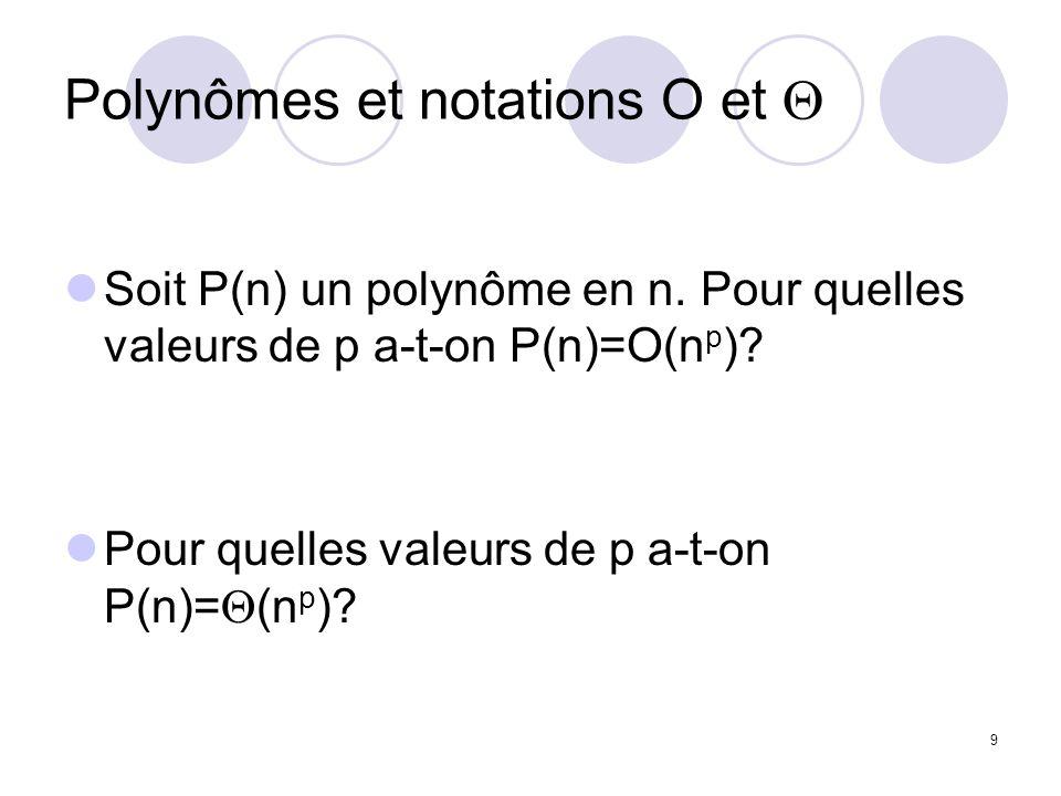 Polynômes et notations O et Q