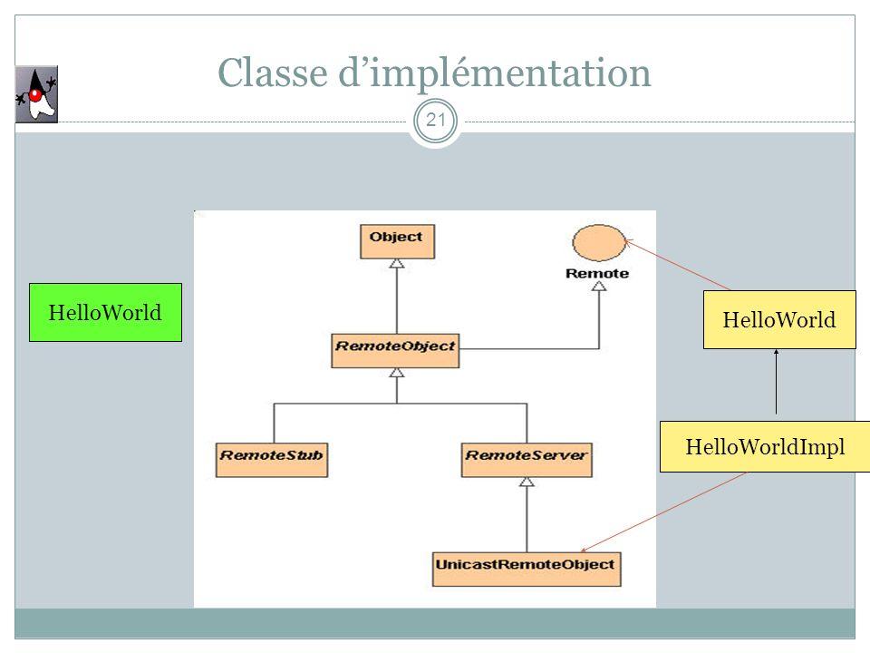 Classe d'implémentation