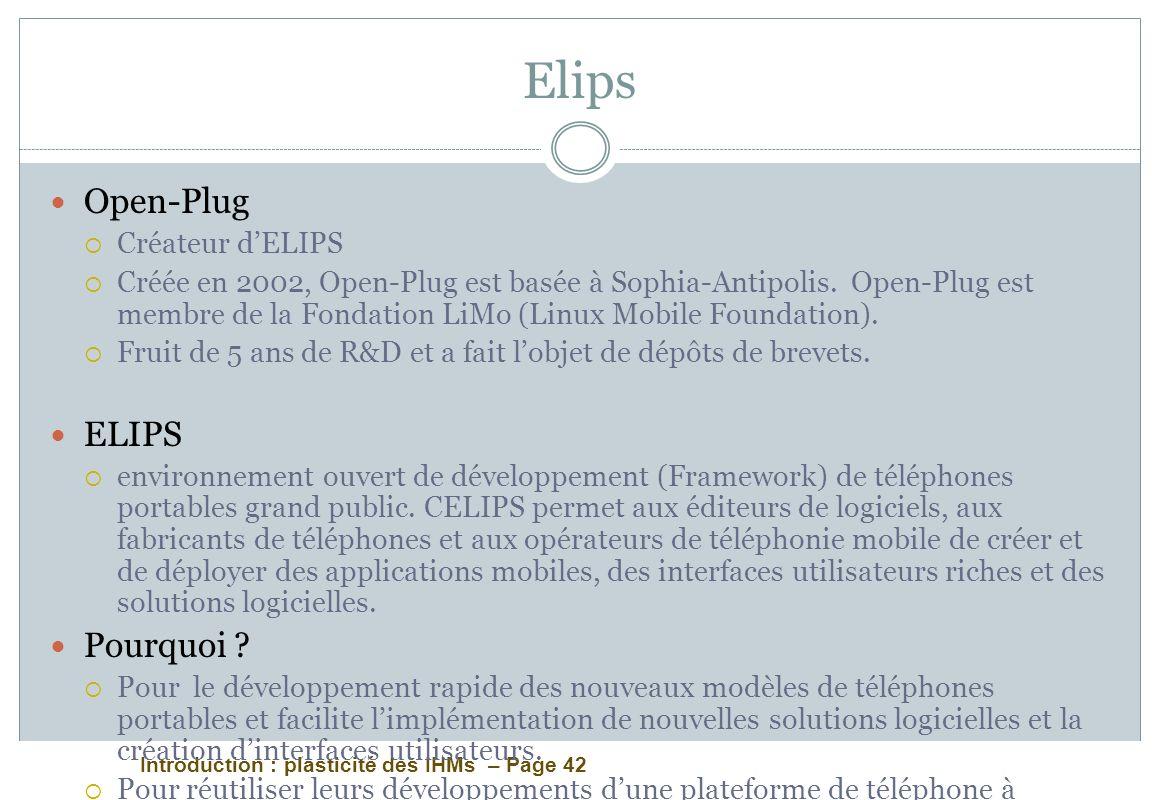 Elips Open-Plug ELIPS Pourquoi Créateur d'ELIPS