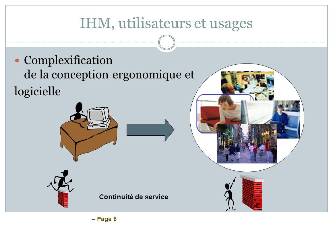 IHM, utilisateurs et usages
